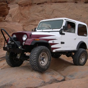 Our Friend Don and His Jeep In Moab, Utah