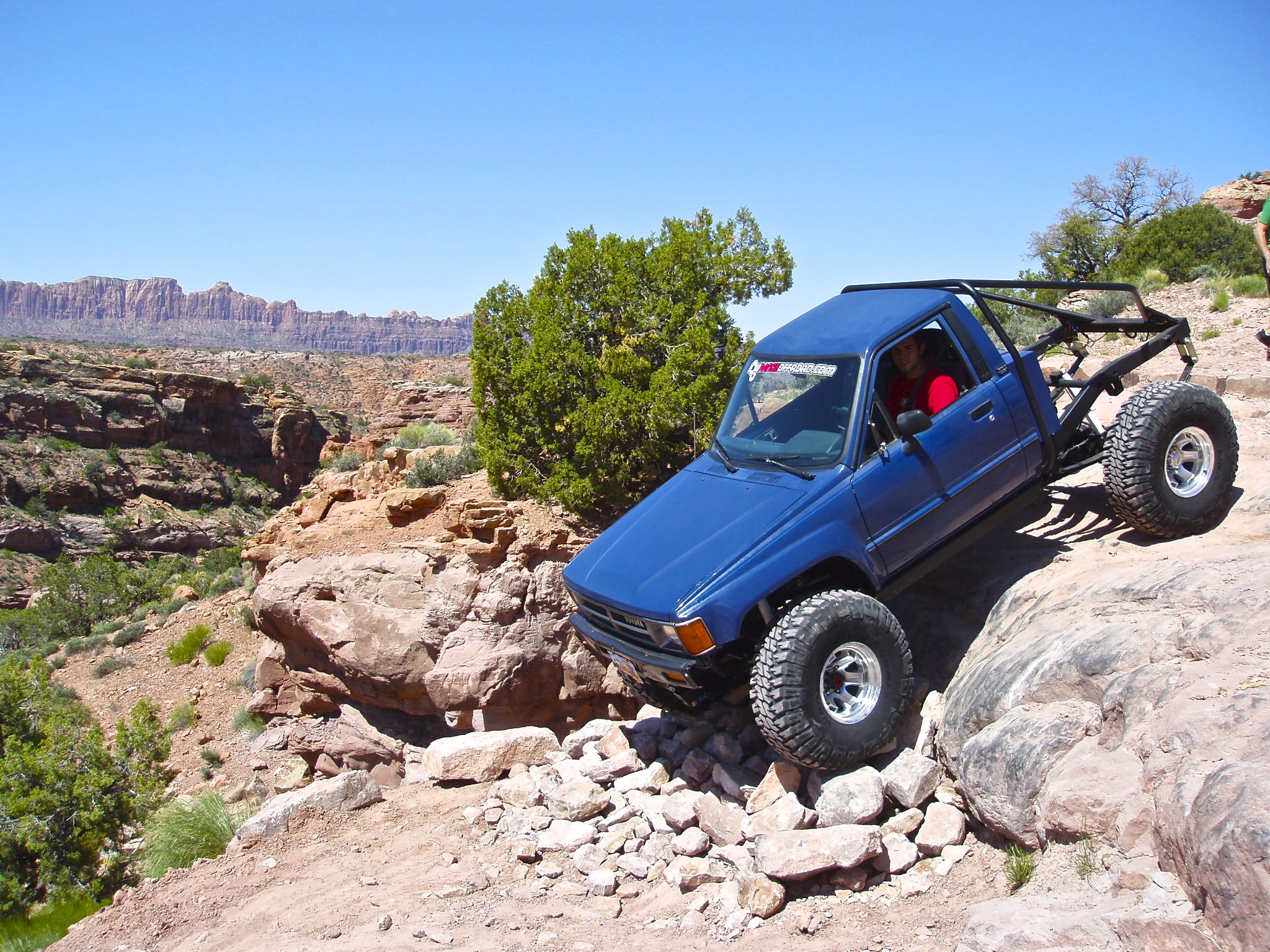 Chris Conk on Trail in Moab Utah with his Toyota Pickup