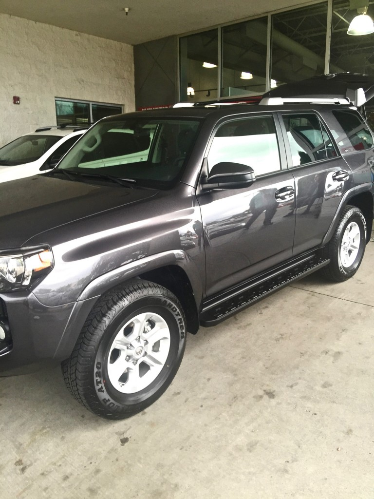 Stephen Gardner's new 2015 Toyota 4Runner at Brent Brown Toyota of Orem, Utah, USA