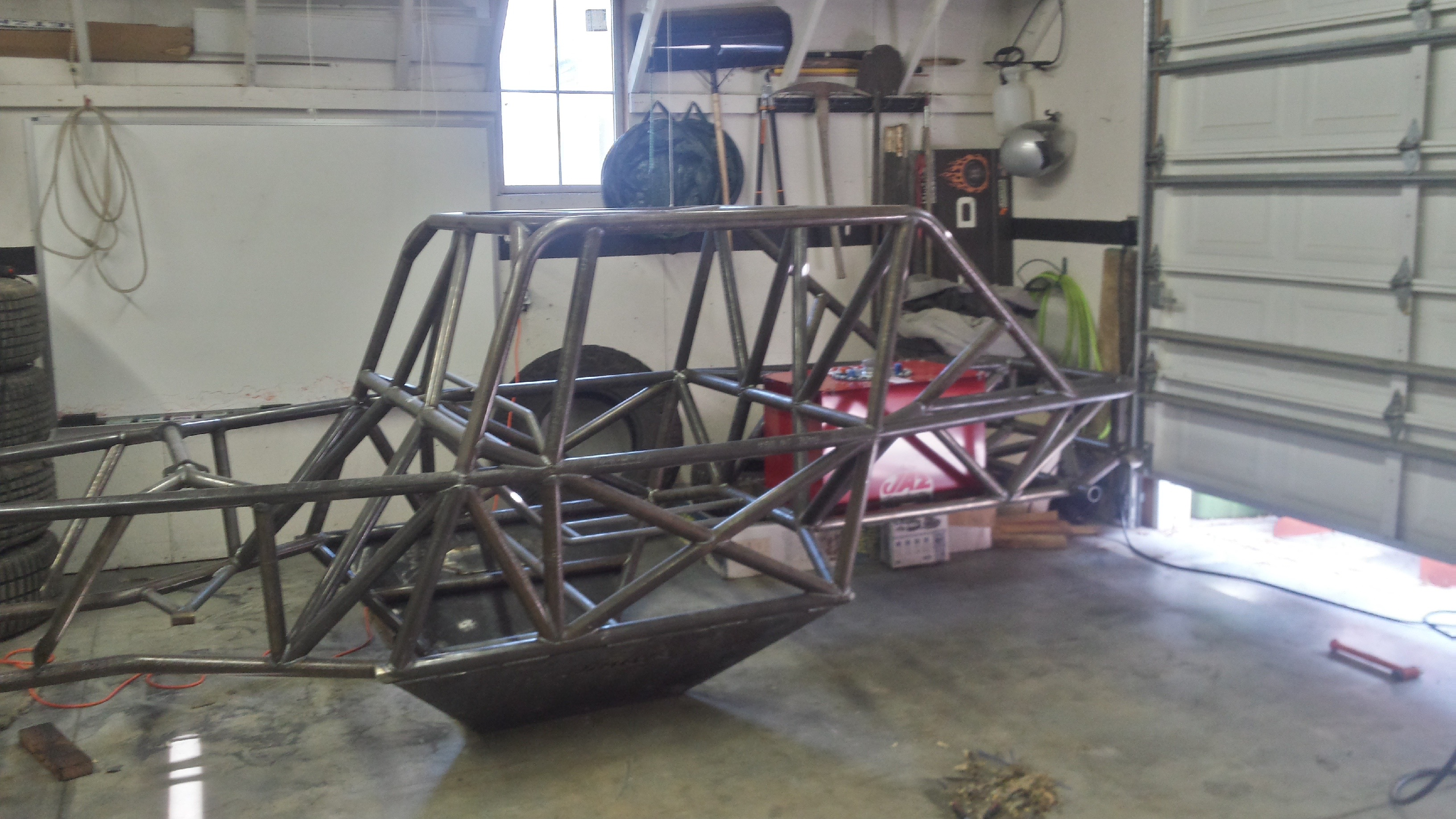 Nick Schaefer's buggy frame at his shop in Pleasant Grove, Utah.