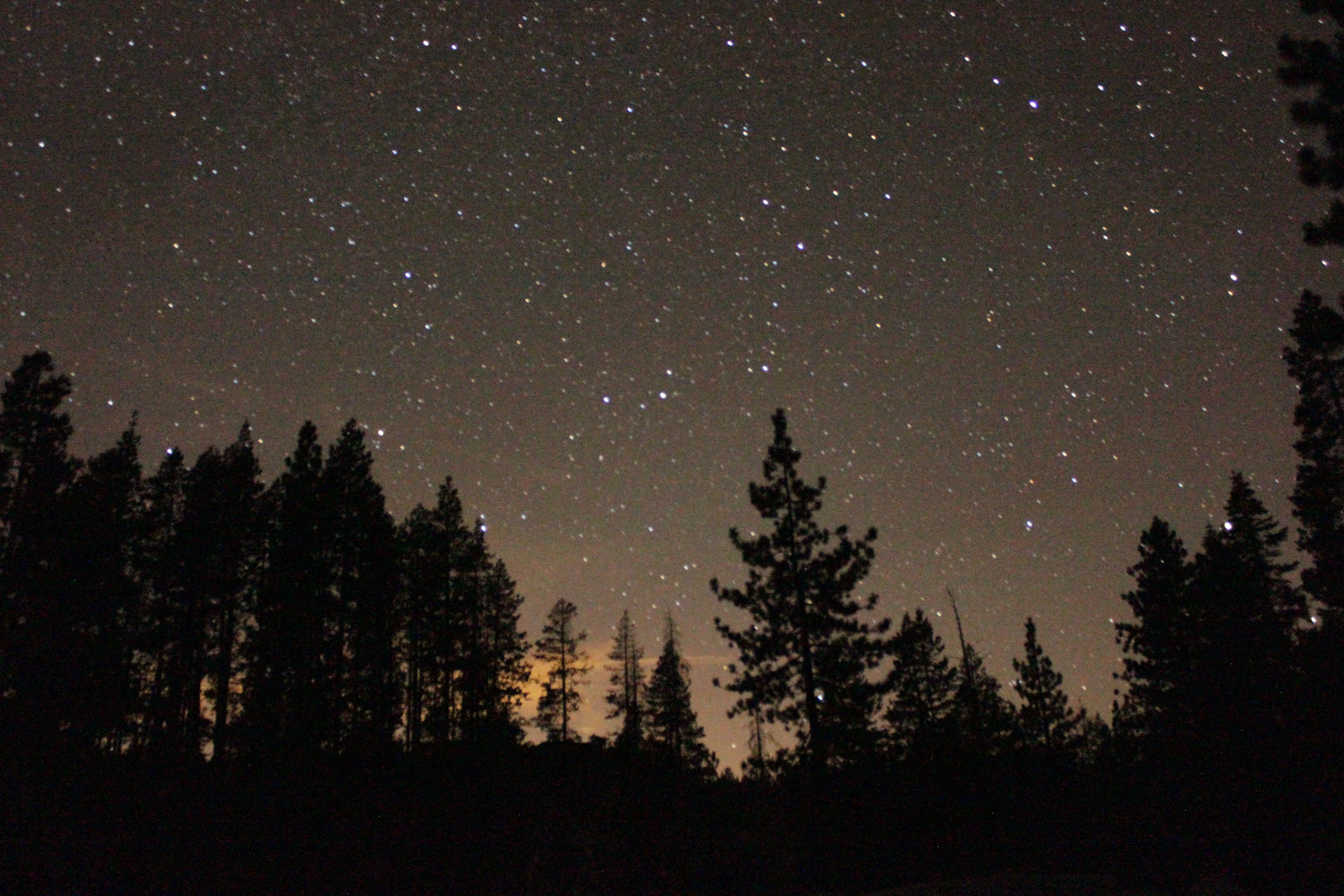 View of Stars at Buck Island Lake on the Rubicon Trail