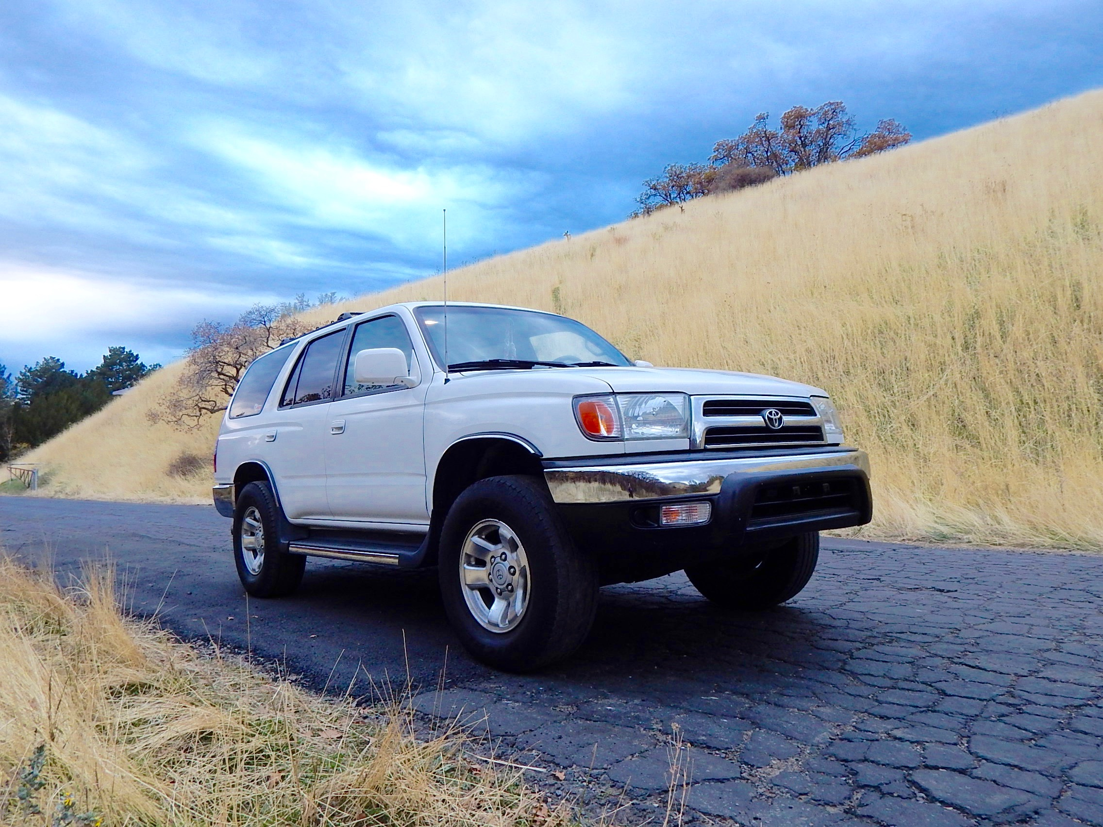 Coleman McVea's 99 Toyota 4Runner—See the deer up on the hill behind.