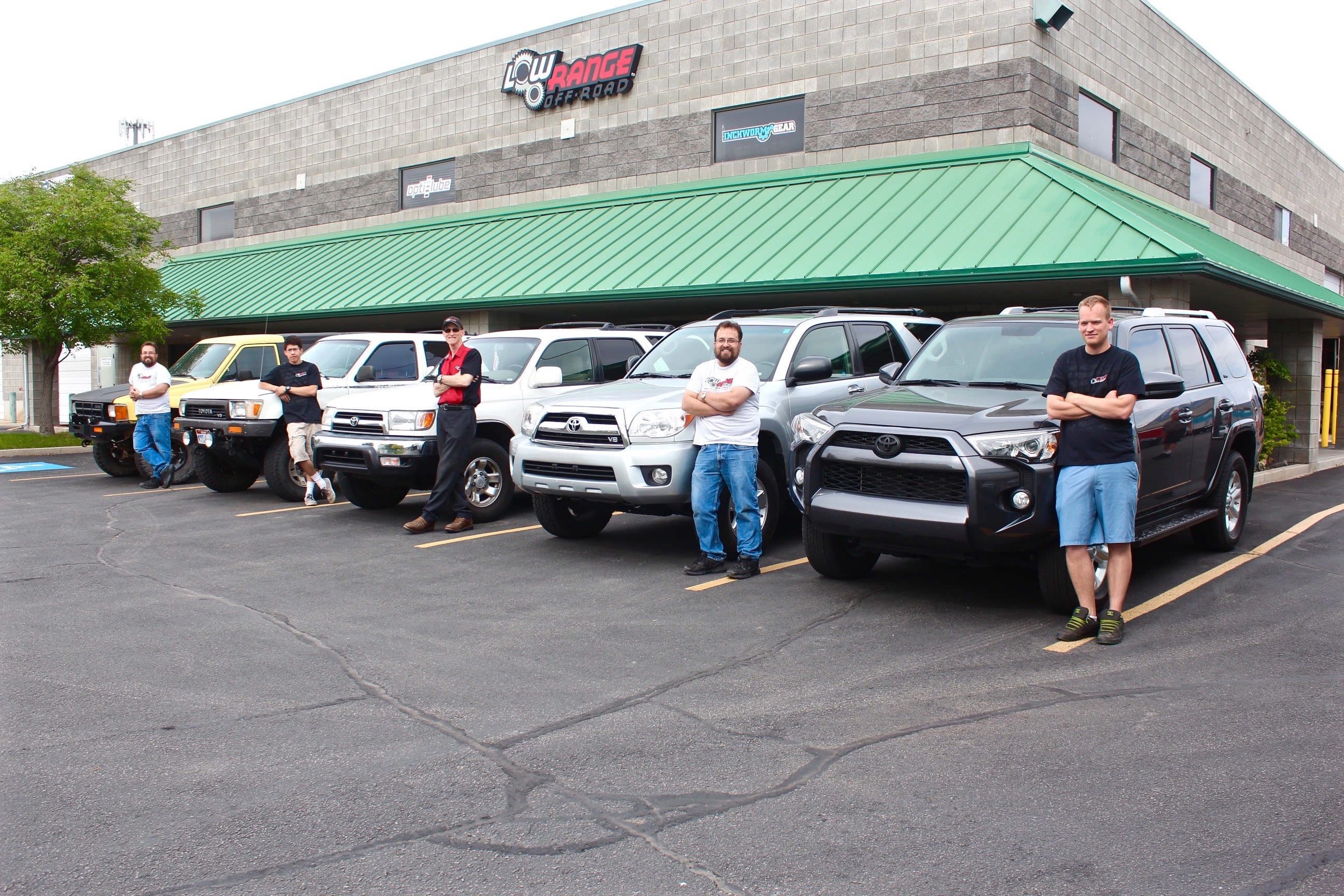 5 Generations of Toyota 4Runners in Front of Low Range Off-Road Headquarters in Orem, Utah, USA
